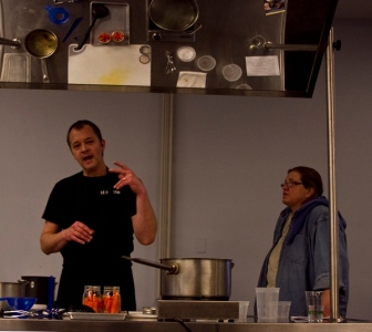 Paul Virant (Vie Restaurant) and Tracey Vowell (3 Sisters Gardens)